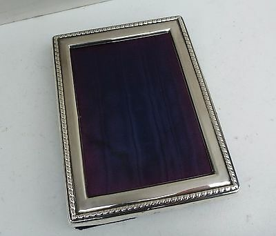 Vintage CARRS OF SHEFFIELD Solid Silver Photo Frame - Hallmarked 1989