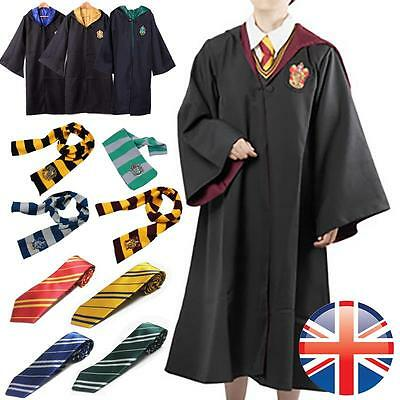 Potter Style Gryffindor Ravenclaw Slytherin Hufflepuff Robe Cloak Cape Costume