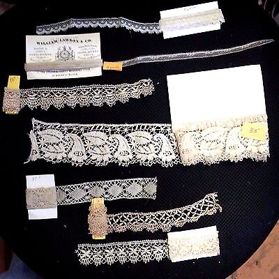 Over 10 yards Antique Lace Salvage Trim Projects Dolls Vintage Bridal Victorian