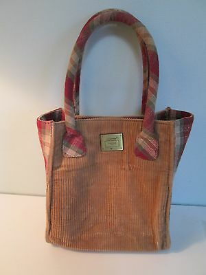 Longaberger Orchard Park Purse Tote with Corduroy