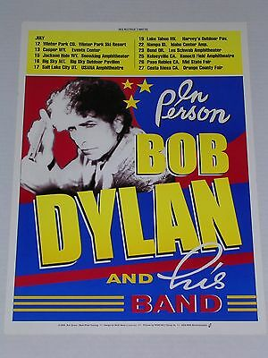 BOB DYLAN & his Band WESTERN TOUR CONCERT POSTER