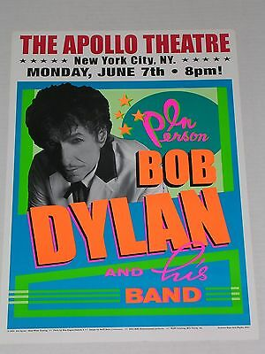 BOB DYLAN & his Band at the APOLLO THEATRE in New York City CONCERT POSTER
