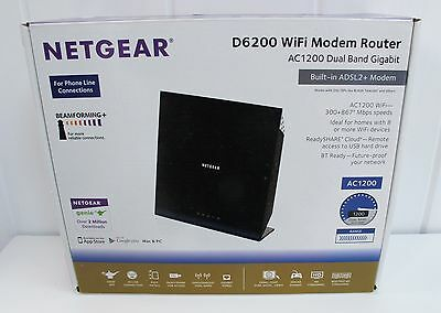 NETGEAR D6200 867 Mbps 10/100 Wireless B Router in Original Box. Used