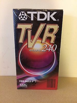 Tdk Tvr 240 Blank Vhs Video Tape. 2x2pack ( 4 Total). Sealed
