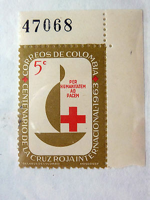 STAMP OF COLOMBIA - SG 1139 - 5c - RED CROSS CENTENARY 1963 - MNH
