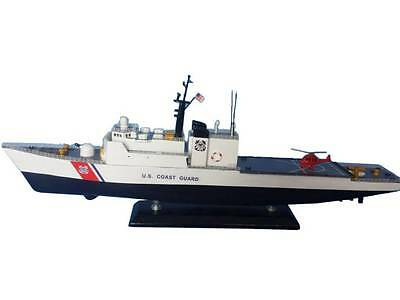 "USCG Coast Guard High Endurance Cutter Ship 16"" Built Wood Model Boat Assembled"