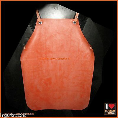 Rubber apron – clinical red - vintage rubber - DDR-style - gummischürze