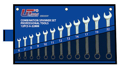 12pc Metric Combination Spanner Wrench Tool Set 6-32mm Spanners*ULTIMATE TOOLS*