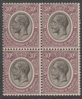 Tanganika  30c  SG98 Block of 4 stamps   MNH