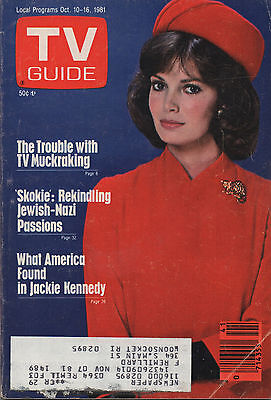 1981 TV Guide Jaclyn Smith Oct. 10 - 16