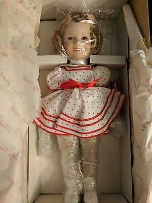 """Danbury Mint """" Stand Up And Cheer"""" Shirley Temple Porcelain Doll - Signed"""