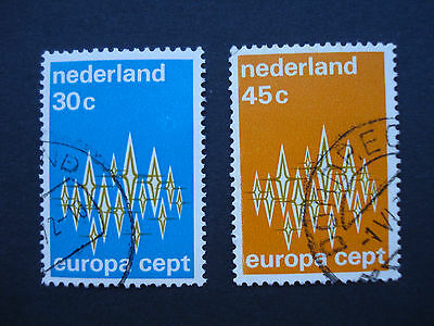 Set of 2 Used Stamps Netherlands 1972 Europa