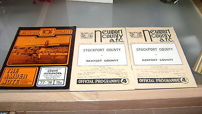 5 x newport county 1960s and 1970s home programmes in very good condition