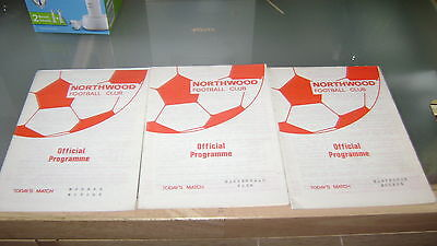 3 x northwood  1970s home programmes in very good condition