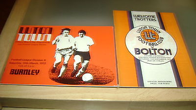 8 x luton town 1960s and 1970s home programmes in very good condition