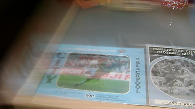 5 x manchester city 1960s and 1970s home programmes in excellent condition