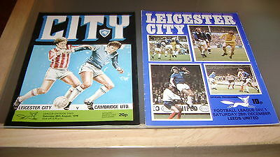 5 x leicester city 1970s home programmes