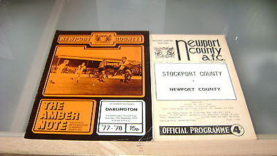 5 x newport county 1960s and 1970s home programmes in good condition