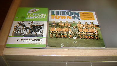 5 x luton town 1960s and 1970s home programmes in good condition