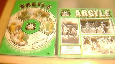 5 x plymouth argyle 1970s home programmes listed