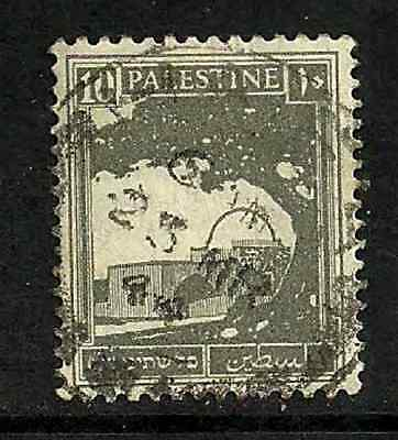 PALESTINE POSTAL ISSUE - 1927 USED STAMP - RACHAELS TOMB - DEFINITIVE PIC 10m
