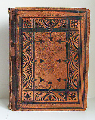 ANTIQUE 1860 LEATHER HOLY BIBLE OLD and NEW TESTAMENTS BY EYRE and SPOTTISWOODE
