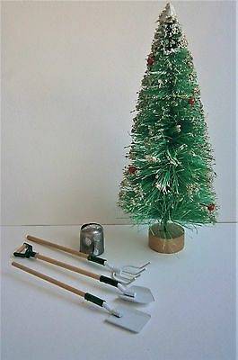 1/12th scale dolls house gardening items & Christmas tree