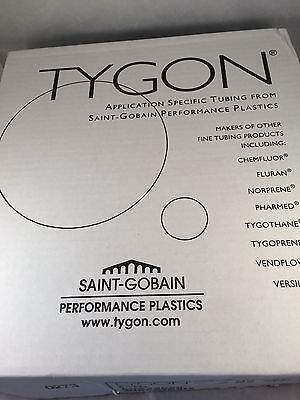 """Tygon Medical Surgical Tubing Clear Plastic 3/8"""" ID 5/8"""" OD 25' Long AVX42029"""