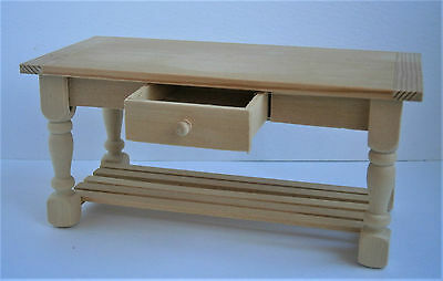 1/12th scale dolls house wooden kitchen table