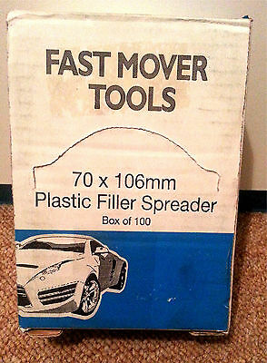 Fast Mover Tools --- Box of 100  Plastic Filler Spreaders