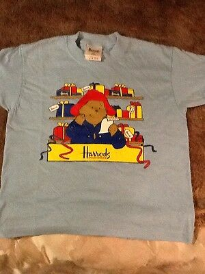 Harrods Paddington Bear Childs T Shirt 2-4 Years New Packaged.