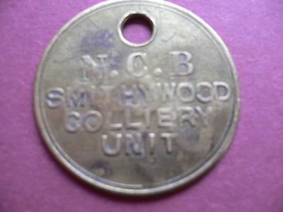 Smithywood Colliery Brass Pay Time Check Mining Miners Pit Lamp Token 995