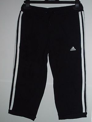 adidas girls performonce cropped track pants age 9-10 years