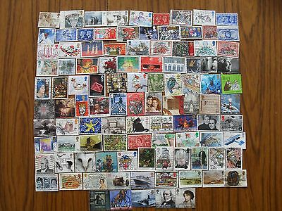 Stamps Gb-100 Different Used Commemoratives
