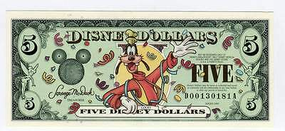 DISNEY DOLLARS, 2000D, UNCIRCULATED, $5.00,  THE 13th YEAR