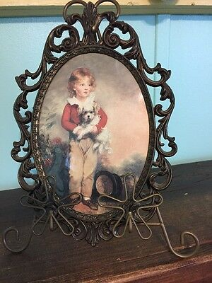 Old Oval Picture Of A Young Boy