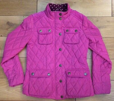 Next 11 12 Years Age Girls Pink Quilted Jacket Coat Winter Warm Horse Riding