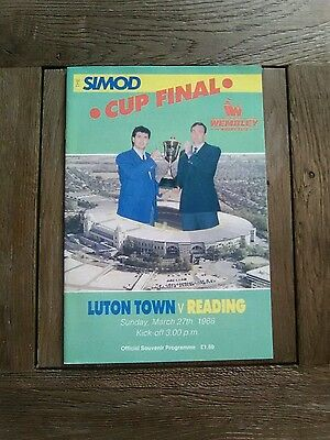 Simod Cup Final Programme Luton Town V Reading 1988