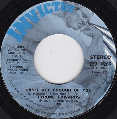 Northern Soul / 70's--TYRONE EDWARDS--Can't Get Enough Of You-----
