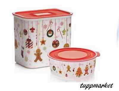 TUPPERWARE Baseline Canisters SET  2.1L + Round Cookies Christmas Special Offer