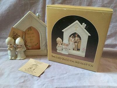 Precious Moments Lord Bless You And Keep You E-7166 Enesco 1981