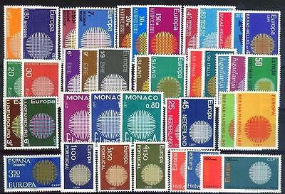 Cept Europa 1970 ** annata completa MNH year beautiful and complete 79,00