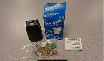 NEW Leviton 801-287-T 30/50 Amp 125/250 Volt Dual Power Angle Plug Range Dryer