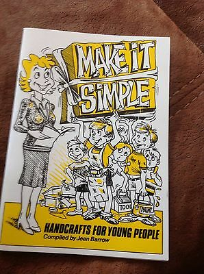 Make It Simple Handcrafts For Young People Jean Barrow Book Beavers/cubs New