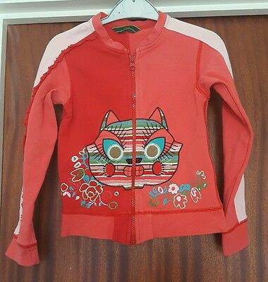 Rare Oilily Girls Cat Jacket 128cm 7-8 years