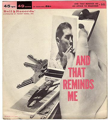BRUCE ADAMS            An Affair to Remember              BELL RECORDS