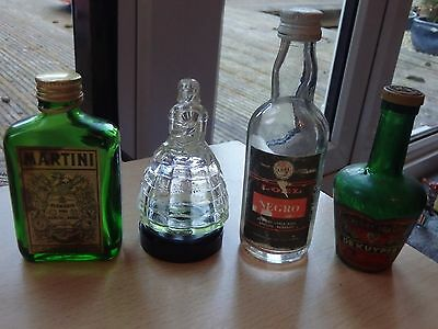 Collection Of Four Miniature Bottles (Empty - No Alcohol)  - Collectors