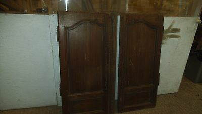Pair Antique pine cupboard Doors - French