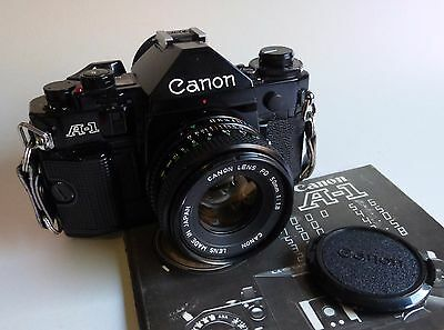 Canon A1 with 50mm F1.8 prime lens