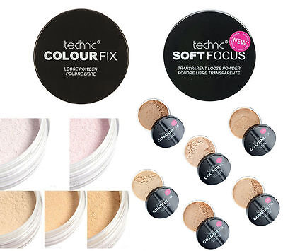 Technic Colour Fix and Soft Focus Transparent Setting Loose Powder Various Shade